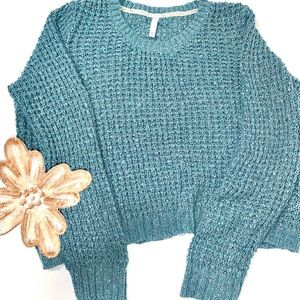 teal wash oversized sweater